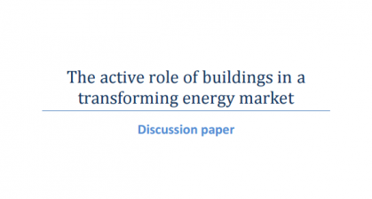 cover The active role of buildings